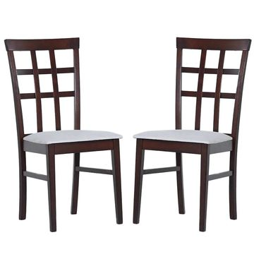 Warehouse of Tiffany Justin Armless Dining Chairs (Set of 8) (Extra Tall - Over 33 in. - Set of 8 - Grey)