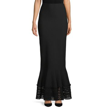 Alaia Laser-Cut Long Skirt