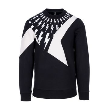 Neil Barrett Thunder Bolts Print Sweatshirt