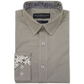Men's Modern-Fit Asterisk Grid Shirt
