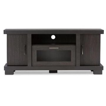 "Baxton Studio Viveka 47"" Tv Cabinet In Espresso Dark Brown"