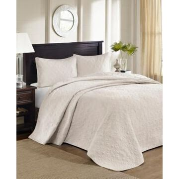 Madison Park Quebec 3-Piece King Quilted Bedspread Set