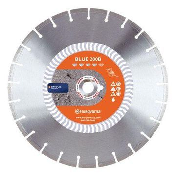 Husqvarna Banner Line 14 in. Dia. x 1 in. Blue 200B Diamond Segmented Rim Saw Blade 1 pk