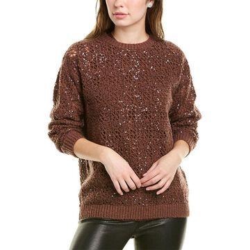 Brunello Cucinelli Open-Knit Cashmere & Wool-Blend Sweater