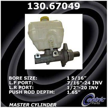 2014 Dodge Ram Centric Premium Brake Master Cylinder, Premium Master Cylinder - P/N 130.67049