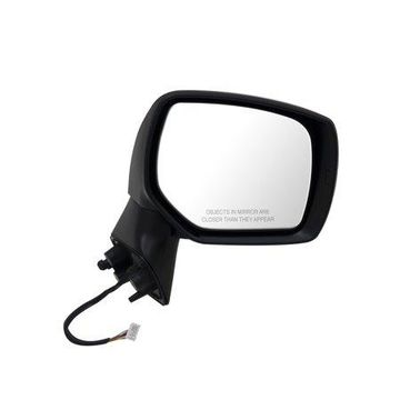 71003U - Fit System Passenger Side Mirror for 14-18 Subaru Forester, textured black w/ PTM cover, foldaway, w/o memory, w/o blind spot detection, Heated Power