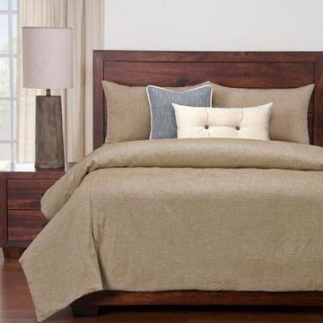SIScovers Modern Farmhouse Haystack Twin Duvet Cover Set in Tan