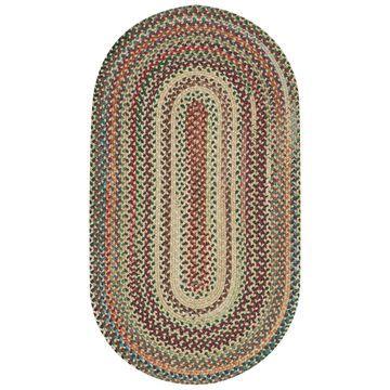 Area Rug, Bear Creek Oval Braid 0980-150 Wheat 4' x 6'