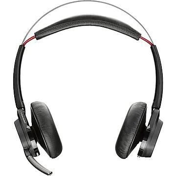 Plantronics, Voyager Focus UC B825 Bluetooth Stereo Headset, USB-C With Charging Stand, Black (211709-01)