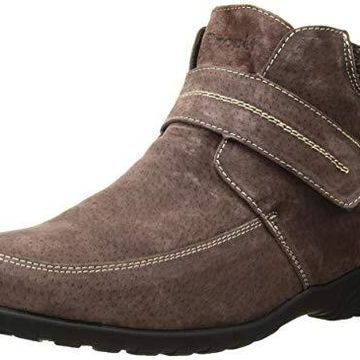 Propet Women's Delaney Strap Ankle Boot, Brown, 6 Medium Medium US