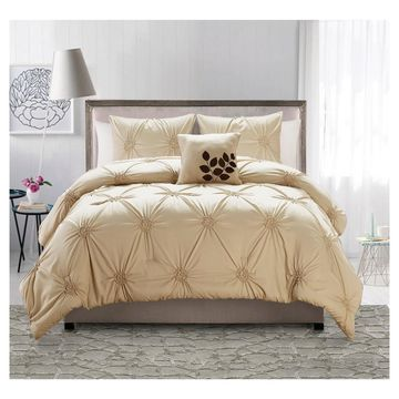 London Comforter Set Taupe 4 Piece - VCNY