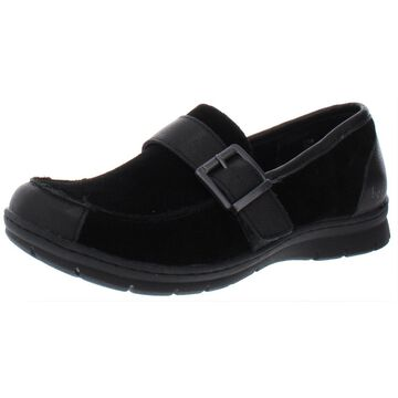 B.O.C. Womens Erna Faux Suede Buckle Loafers