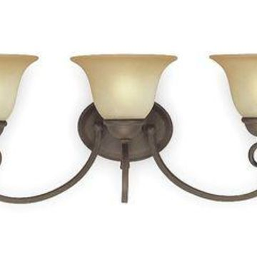 LUMAPRO 4UZH1 Light Fixture,Ebony Bronze,Alabaster