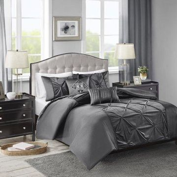 Home Essence Sondra Faux Velvet 5 Piece Duvet Cover Set