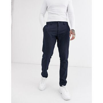 Only & Sons slim fit pants in blue check