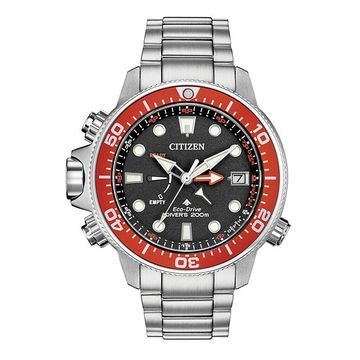 Men's Citizen Eco-Drive Promaster Aqualand Watch with Black Dial (Model: BN2039-59E)
