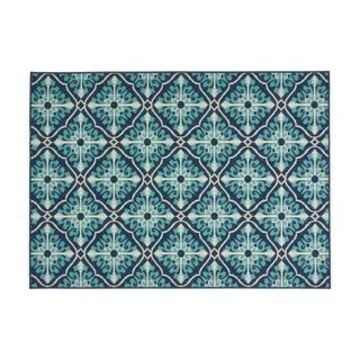 Christopher Knight Home Navy and Blue Morroco Trellis Outdoor Area Rug (5'3