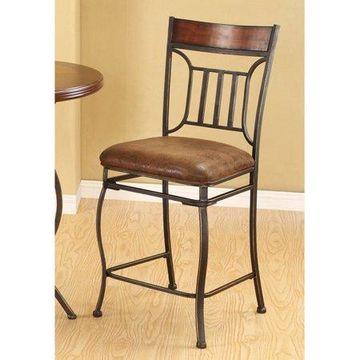 Acme Peru Counter Chair, Set of 2, Saddle