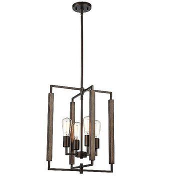 ELK Lighting Zinger Pendant Light - Color: Bronze - Size: 4 light - 75160/4