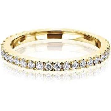 Annello by Kobelli 14K Gold Lab Grown Diamond Near Eternity Ring (DEF/VS)