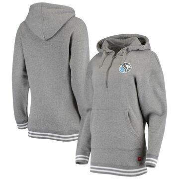 Sacramento Kings Women's Heathered Gray City Edition Tri-Blend Quarter-Zip Hoodie