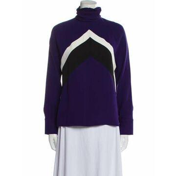 Silk Colorblock Pattern Sweatshirt w/ Tags Purple