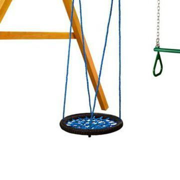 Gorilla Playsets Large Orbit Swing, Blue, 26 Inch Diameter x 66 Inch Height, 220 lb. Capacity, For Kids Ages 3-11, 04-0028-BK/B