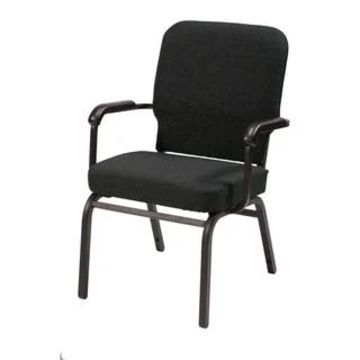 KFI Big and Tall Guest Chair Weight Tested to Hold 500-pounds Fabric (Black)