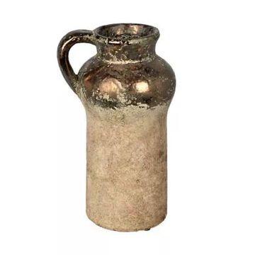 Vickerman Aged Terracotta Gray Ceramic Vase -