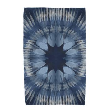 36 x 72-inch E by Design Shibori Burst Geometric Print Beach Towel