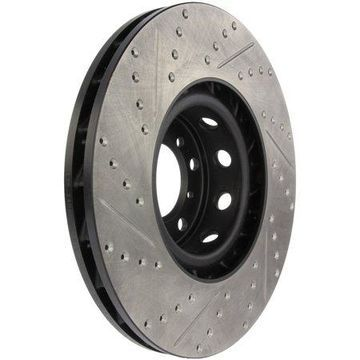 StopTech 127.34062L StopTech Sport Rotors; Drilled And Slotted; Front Left;