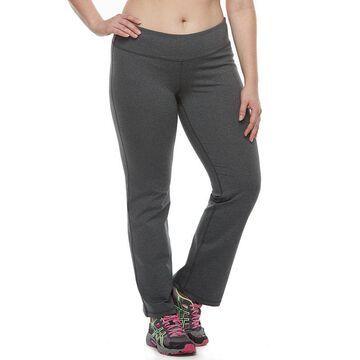 Plus Size Tek Gear Bootcut Shapewear Pants, Women's, Size: 4XL Short, Dark Grey