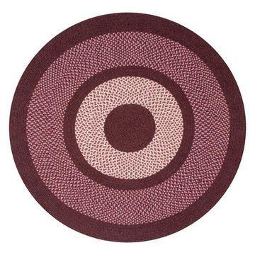 Better Trends Portland Wool Braid Rug, Burgundy, 66