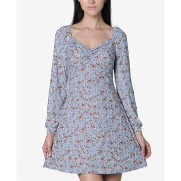 Ultra Flirt Juniors' Sweetheart Printed Dress
