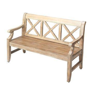 Offex Transitional Rectangular Driftwood Bench
