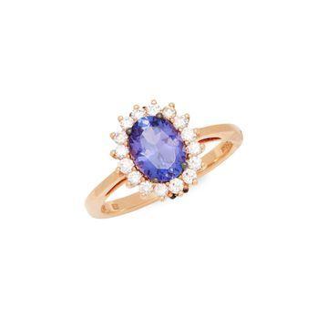 Le Vian Chocolatier 14K Strawberry Gold, Blueberry Tanzanite, Chocolate Diamond & Vanilla Diamond Ring