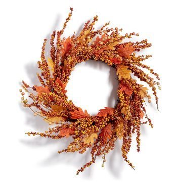 Harvest Pumpkin Berry Artificial Wreath, Created for Macy's