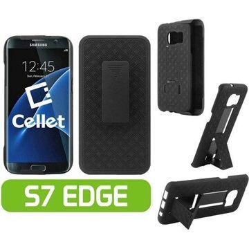 Cellet Shell + Holster + Kickstand Combo Case for Samsung Galaxy S7 edge