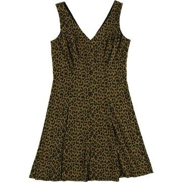 American Living Womens Printed Fit & Flare Dress