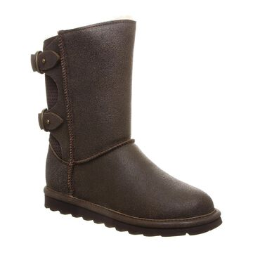 BEARPAW Women's Cold Weather Boots CHESTNUT - Chestnut Distressed Clara Suede Boot - Women