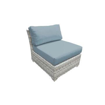 TK Classics Fairmont Vanilla Creme Polyethylene Wicker/Aluminum Armless Sofa