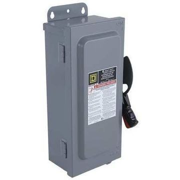 Square D By Schneider Electric H322AWK 60 Amps AC 240VAC Single Throw Safety