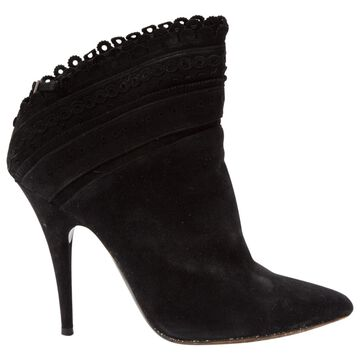 Tabitha Simmons Black Suede Boots