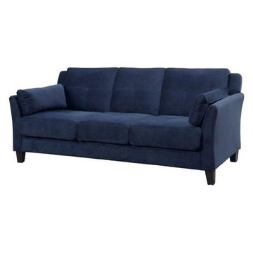 Bowery Hill Tufted Sofa, Navy