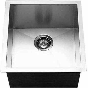 Houzer CTR-1700 Contempo Series Undermount Stainless Steel Single Bowl Bar/Prep Sink