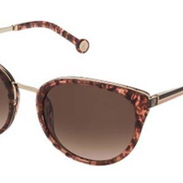 Carolina Herrera SHE120 01GQ Womenas Sunglasses Tortoise Size 54
