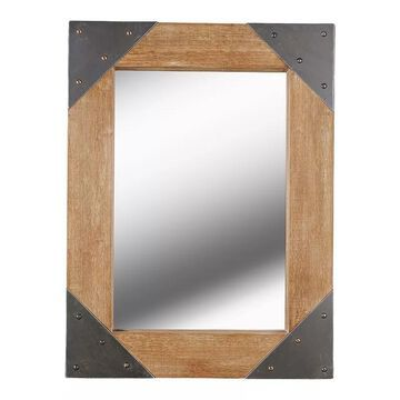 Kenroy Home Brace Wall Mirror, Brown, 40X40