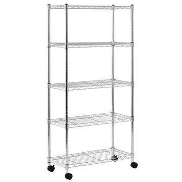 Sandusky Muscle Rack 14-in D x 30-in W x 60-in H 5-Tier Steel Utility Shelving Unit in Chrome