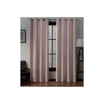 Exclusive Home Loha Linen Grommet Top Window Curtain Panel Pair, 54