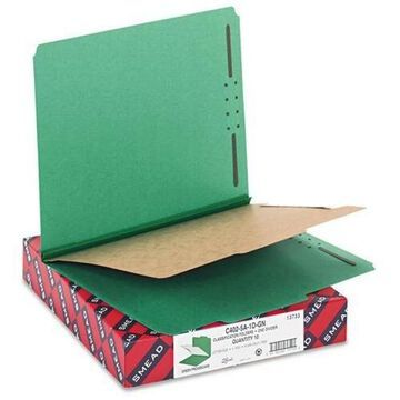 Smead Colored Pressboard Classification Folders with SafeSHIELD Coated Fastener Technology - Letter - 8 1/2